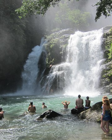 TikiVillas Rainforest Lodge: The trail ride to a beautiful waterfall.