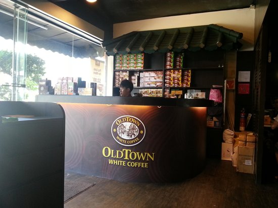 Old Town White Coffee Cashier Counter Picture Of Old