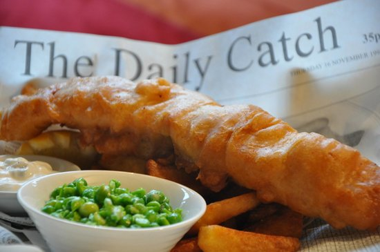 Towcester, UK: Fish'n chips