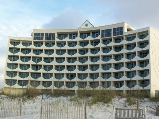Holiday Inn Express Pensacola Beach: View from the beach.