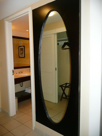 Renaissance Denver Hotel: Nice big mirror - note the spacious closet in the reflection.