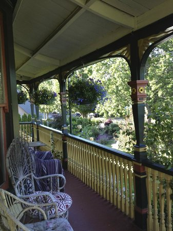 Albion Manor Bed and Breakfast: views from the porch