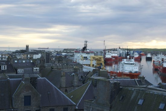 Ibis Aberdeen Centre: panoramic view from my window