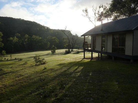 "Yering, Australia: Early morning at ""Waterfall Cottage""."