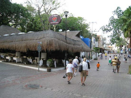 El Tukan: Tulipanes, restaurant on our all inclusive, on 5th Ave, Hotel is behind it