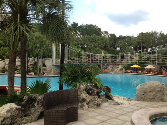 Hyatt Regency Grand Cypress: Rope Bridge and Pool