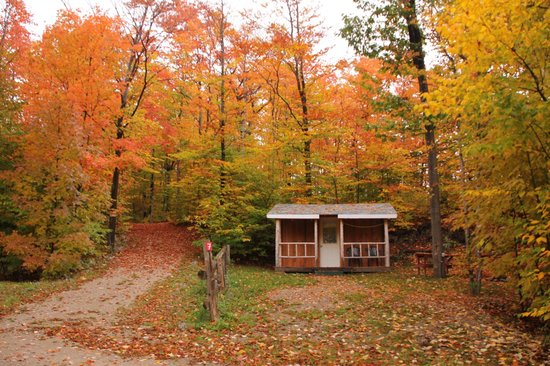 Manitoulin Island, Canada: Camping Cabin and Fall Colours.
