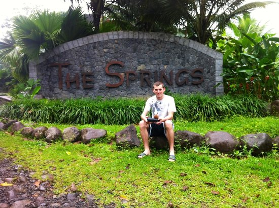 The Springs Resort and Spa: The first thing you see when you come in (not me)