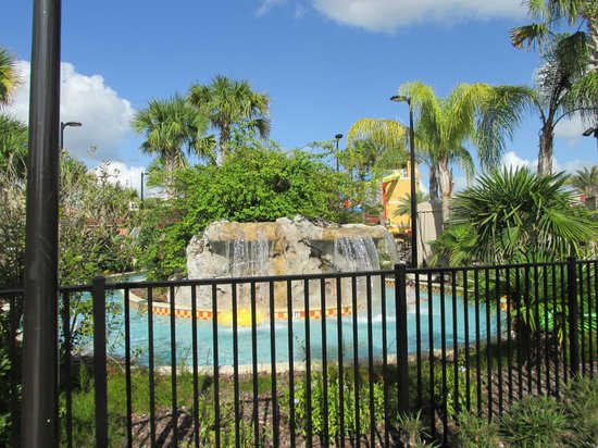 Fantasy World Club Villas: Waterfall along lazy river's path
