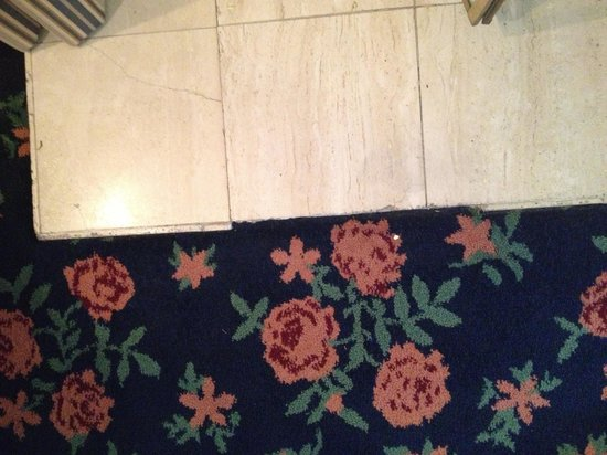 Mendocino Hotel and Garden Suites: Missing tile