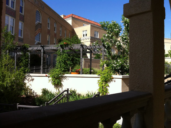 "Hotel Parq Central: view from our window in ""doctors' residence"" room"