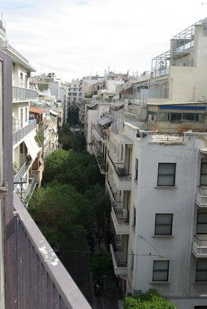Hotel Myrto Athens: View from balcony