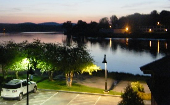 Laconia, NH: Evening view of Lake Opechee