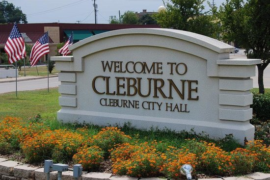 Cleburne, TX: City Welcome Sign