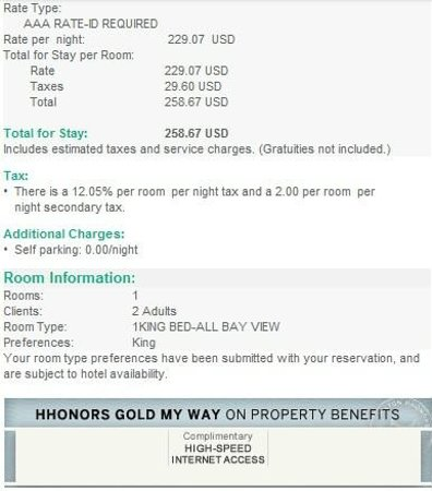 Seaside, CA: Room Bill for high-floor one-bedroom studio