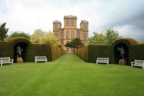 Derbyshire, UK: Hardwick Hall from side gardens