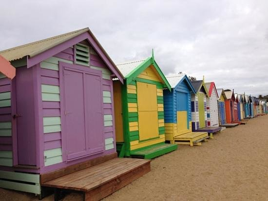 Brighton, Australien: bathing box