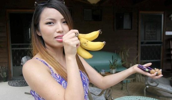 Aloha Guest House : Tasty Banana's from the Property