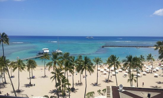 Hilton Hawaiian Village Waikiki Beach Resort: A view from our room!!