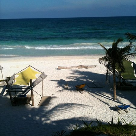 Ahau Tulum: View from our deck (pretty sure I was in a hammock when I took this)