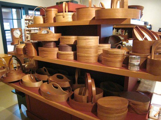 Pittsfield, MA: Collection of baskets in gift shop
