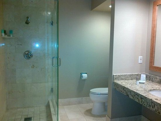 Indian Wells, Californie : huge bathroom - shower/toilet view
