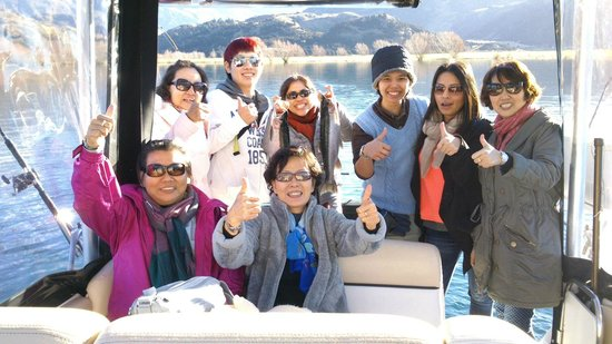 Wanaka, New Zealand: Ladies fishing and cruising day.