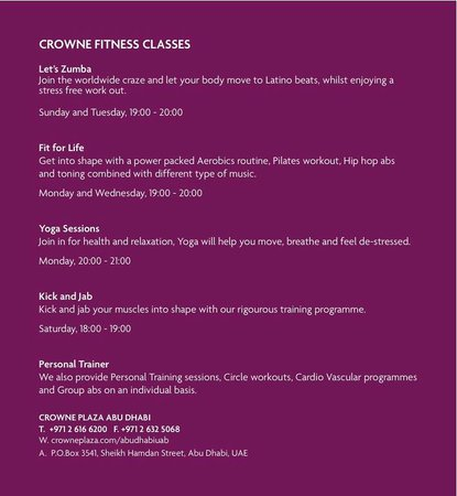‪فندق كراون بلازا: Crowne Fitness - Classes‬