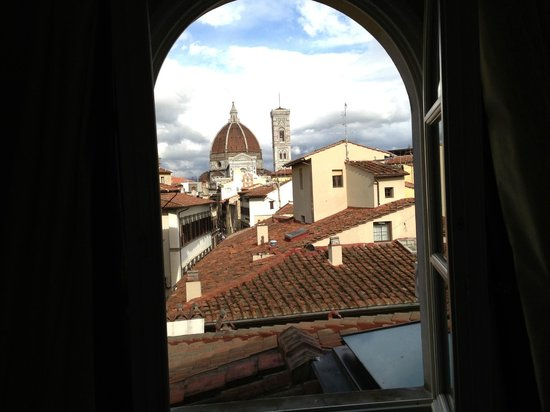 Hotel L'Orologio: view from my bed out the window