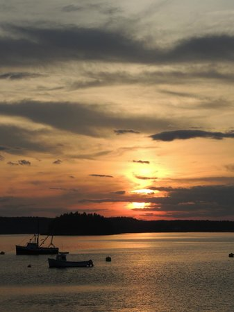 Lubec, ME: amazing sunset first night!!