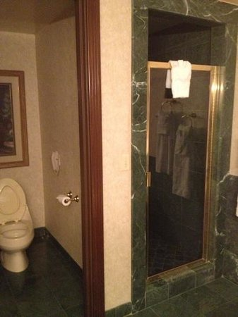 Suncoast Hotel and Casino: Separate toilet and Shower