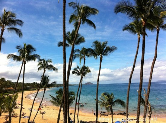 Mana Kai Maui: My iPhone photo of the view from our lanai (balcony)