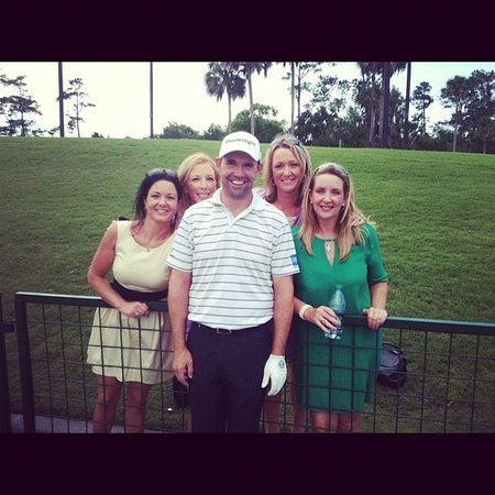 Atlantic Beach, FL: Padraig Harrington with the sisters