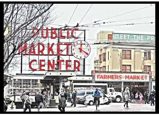 Des Moines, WA: The famous Pike Place Market ~ Part of our City Tour