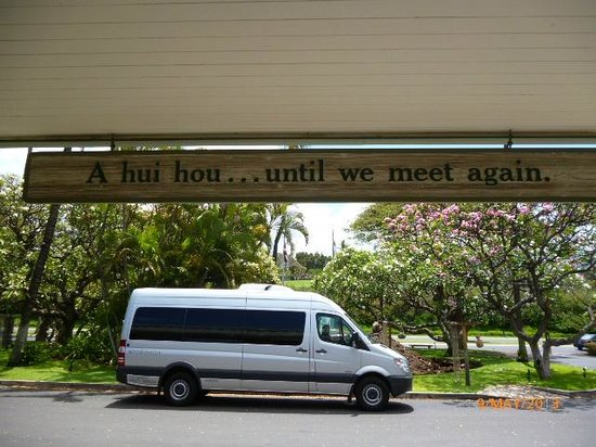 Ka'anapali Beach Hotel: Farewell sign - A hui hou...until we meet again