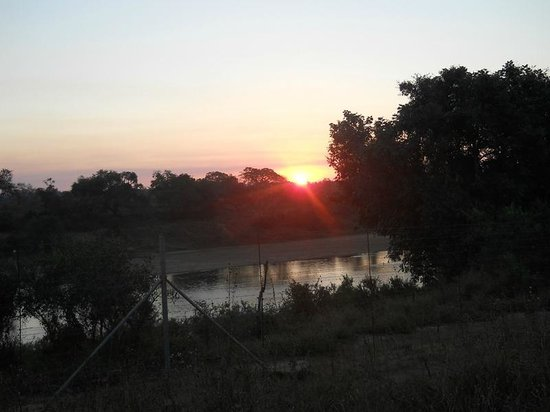 Marloth Park, South Africa: Sunset over the Crocodile River