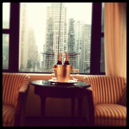 The New York Palace Hotel: City view from our room, and of course our Chandon ;)