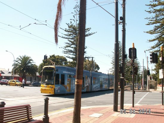 Glenelg, Australia: One of many trams