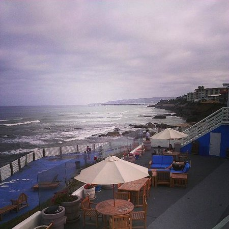 The Inn at Sunset Cliffs: This is the view from the second floor deck. Below is a sitting area and where it overlooks the