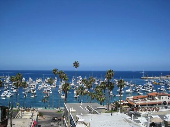 The Avalon Hotel on Catalina Island: View from the Avalon Hotel