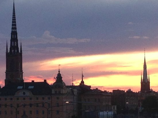Hilton Stockholm Slussen: View from hilltop path.  Take the right from the hotel entrance.