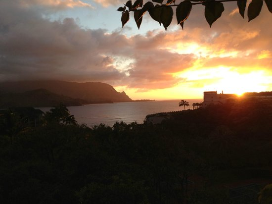 Hanalei Bay Resort: Sunset from Hanelei Bay Resort