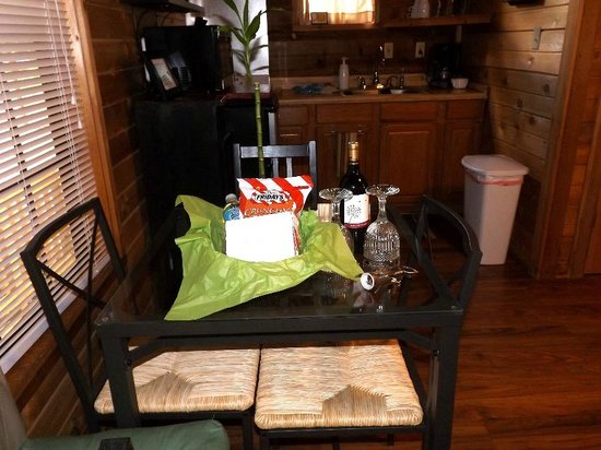 Cypress Creek Cottages: Human welcome package.