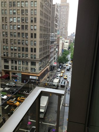 Gansevoort Park Avenue NYC: Looking towards Park Av. from room balcony