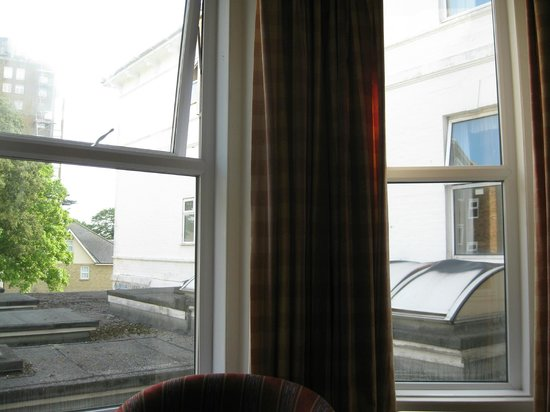 "Wessex Hotel: ""view"" through bay window: Hello neighbours!"