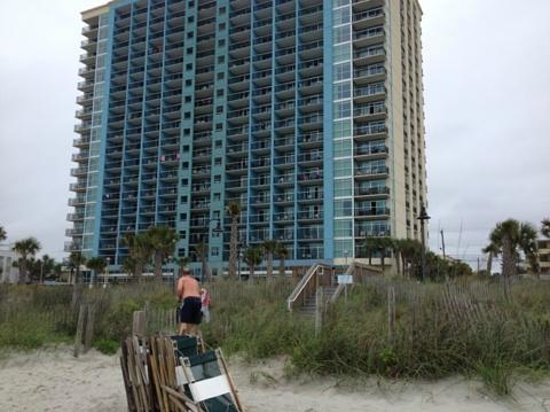 Bay View on the Boardwalk: View of hotel from beach