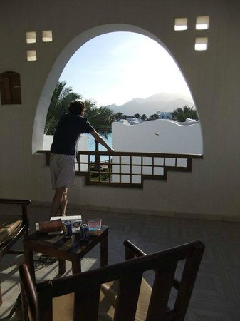 Hilton Dahab: Our private balcony