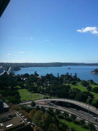 View of Sydney Opera House (ok ok.. just a partial view) from Intercontinental Sydney