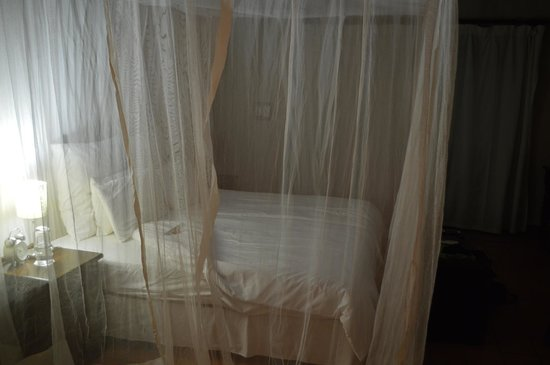 Balule Private Game Reserve, Sudáfrica: Bed with good mosquito net