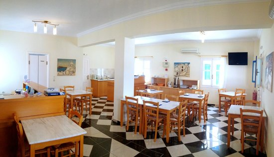 Monólithos, Grecia: Reception - breakfast served from 7:30-10